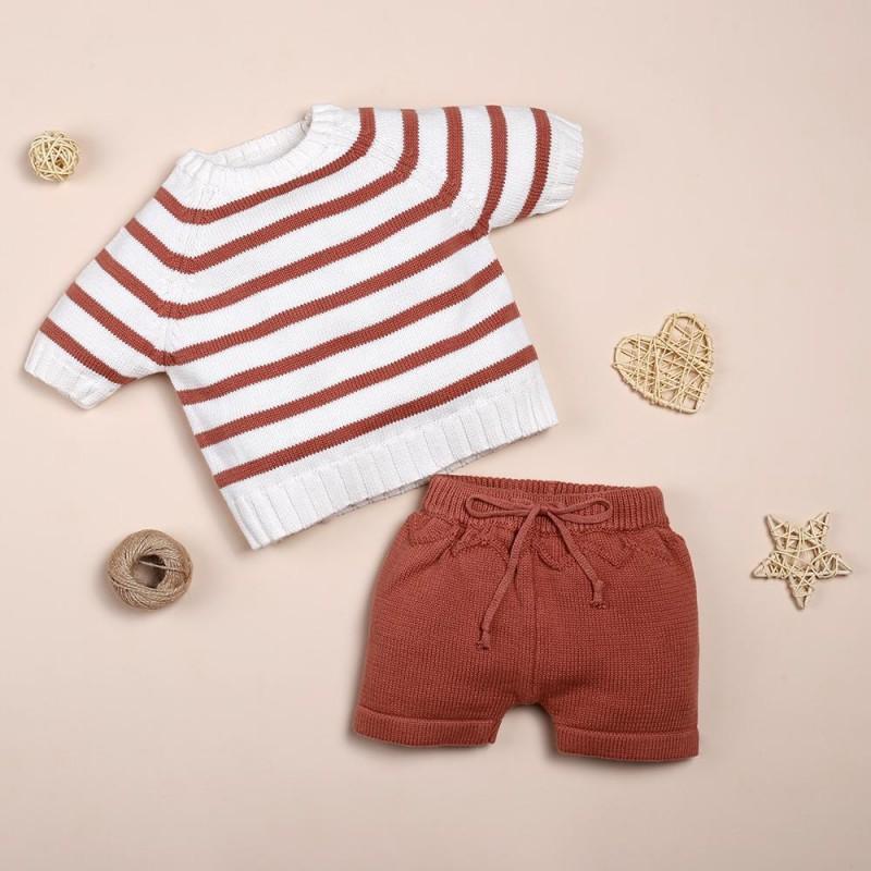 brown stripe suit fo...