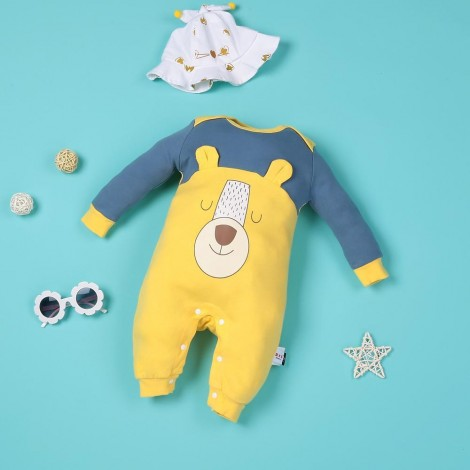 Real cartoon lion yellow jumpsuit for 22'' reborn baby doll boy
