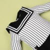 Black and White Striped Sweet Princess Dress for 22'' reborn baby doll girl