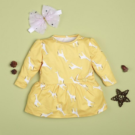 fawn yellow dress for 22'' reborn baby doll girl