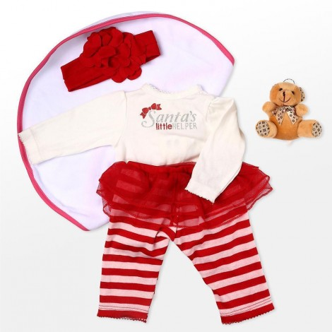 """Reborn Dolls Baby Clothes Red Outfit for 20""""- 22"""" Reborn Doll Girl Baby  High quality Clothing sets"""