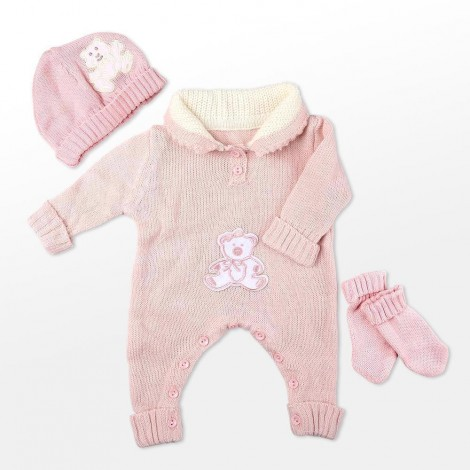 """Reborn Dolls Baby Clothes Pink Outfit for 20""""- 22"""" Reborn Doll Girl Baby Clothing sets"""