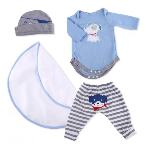 """Reborn Dolls Baby Clothes Blue Outfits for 20""""- 22"""" Reborn Doll Girl Baby Clothing sets"""