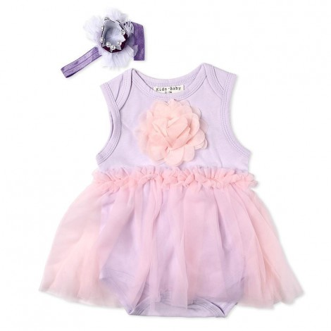 """Reborn Dolls Baby Clothes Purple Dress for 20""""- 22"""" Reborn Doll Girl Baby Clothing sets"""
