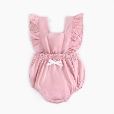 22''Newborn Siamese Denim Pink Romper