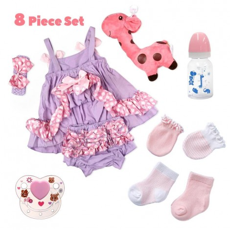 Adoption Reborn Baby Essentials-8pcs Gift Set C