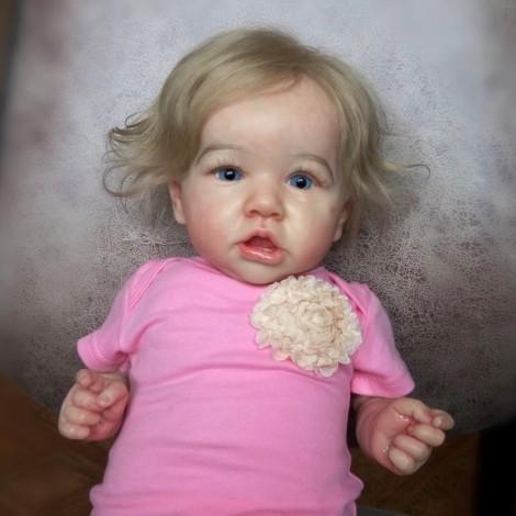 22'' Kids Reborn Lover Cora Reborn Baby Doll Girl Toy