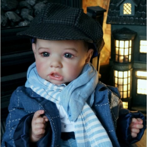 "22""Kids Play Gift Frieda Reborn Saskia Baby Doll Girl, Realistic&Lifelike Newborn Baby Dolls"