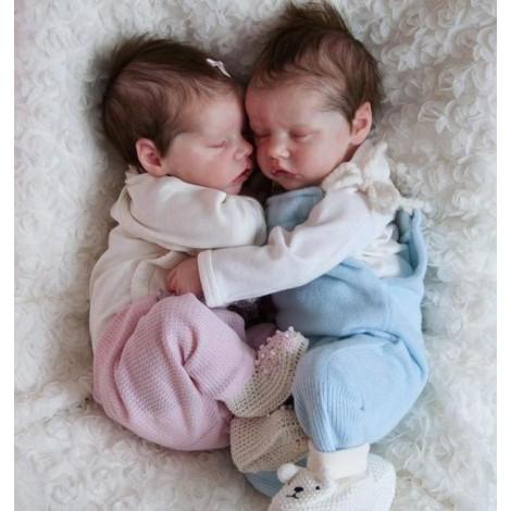 17 '' Real Lifelike Twins Sister Debbie and Deborah Reborn Baby Doll Girl
