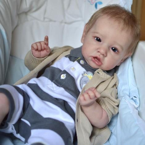 22'' Handmade Reborns  Kaylee Reborn Baby Doll Boy Toy