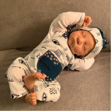 20 ''  Adorable Hockin Sleeping Silicone Reborn Baby Boy Dolls