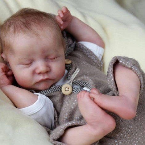 20 '' Real Lifelike Boyd Reborn Baby Doll Boy, Lifelike Newborn Baby Dolls with Clothes