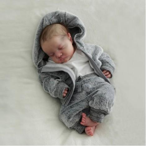 20'' Kids Play Gift Sike Reborn Baby Doll Boy, Lifelike Soft Vinyl Doll