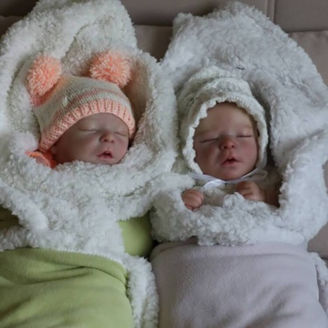 17.5'' Realistic Twin Brothers Truly Reyna and Kyra Reborn Baby Doll Boy