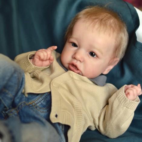 22'' Handmade Reborns  Delilah Reborn Baby Doll Boy Toy