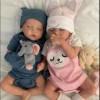 17''  Lifelike Realistic Twins Sister Katelyn and Cameron Reborn Baby Doll Girl