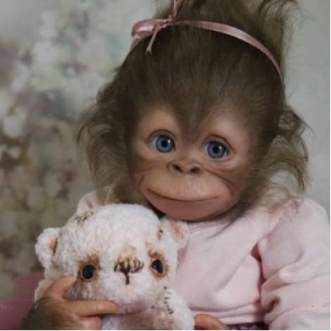Truly Baby Monkey Reborn Doll Named Briany