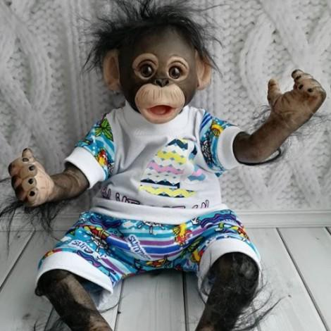 Gluck  Poseable Hugging Monkey Doll