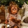 Realistic Haun  Baby Monkey Reborn Doll