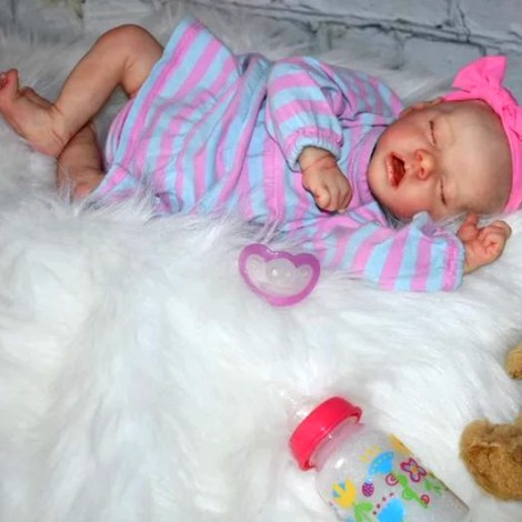 17'' Full Silicone Camille Reborn Baby Doll Girl